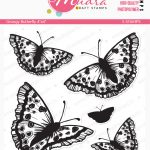 Grungy butterfly – SIZE 4 X 4